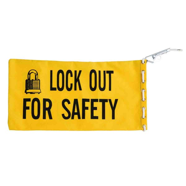 BRADY Lockout-Tasche aus robustem Canvas, mit Kordel STARTER KIT BAG YELLOW 65780
