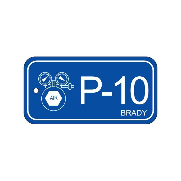 BRADY Anhänger für Energiequellen–Pneumatik ENERGY TAG-P-10-75X38MM-PP/25 138743