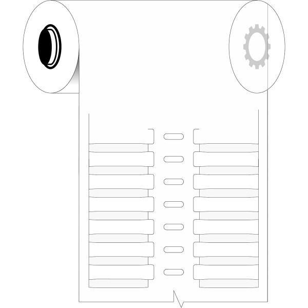 BRADY Für den Thermotransferdruck geeignete, feste DuraSleeve-Einsteckschild B33-30X4.4-7697-WT 1987