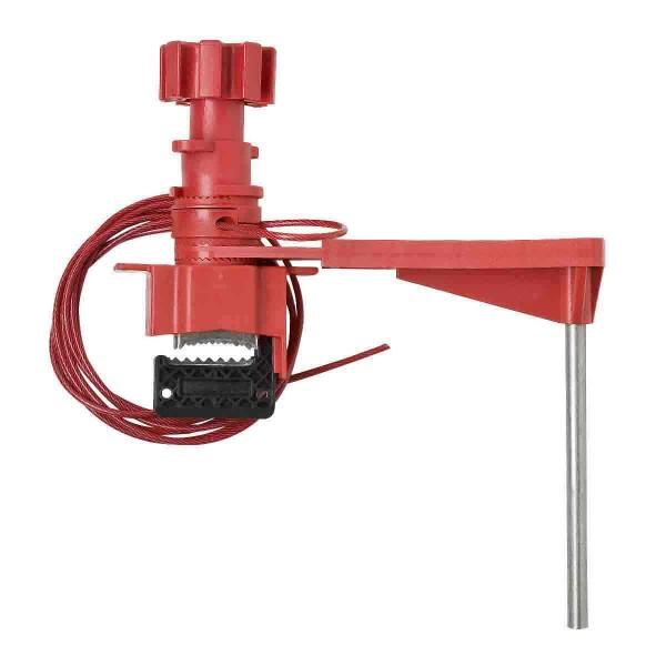 BRADY Große Universal-Ventilabsperrung mit überzogenem Kabel und Blockierarm LARGE UNIV VALVE LOCKOU