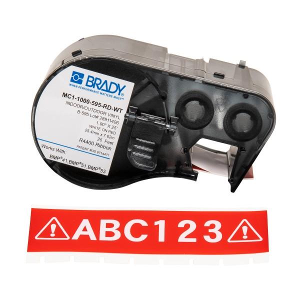 BRADY Band für BMP41/BMP51/BMP53 Etikettendrucker MC1-1000-595-RD-WT 131596