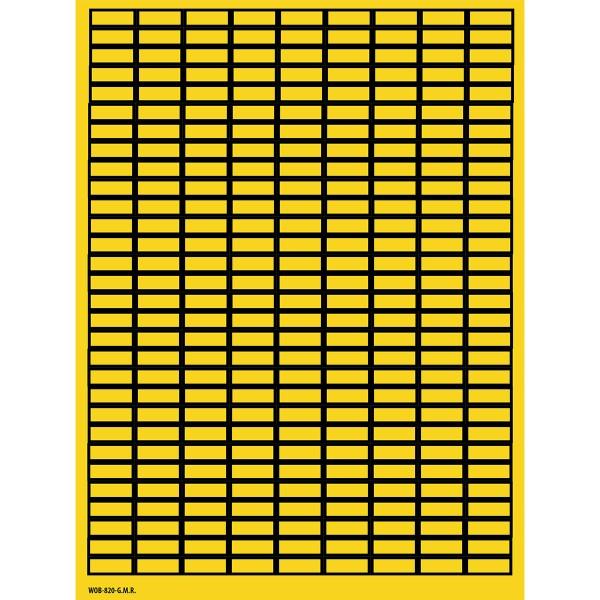 BRADY Beschriftbare Etiketten auf Bögen - 8 x 20 mm - B-500 WOB-820-G.M.R. 101816