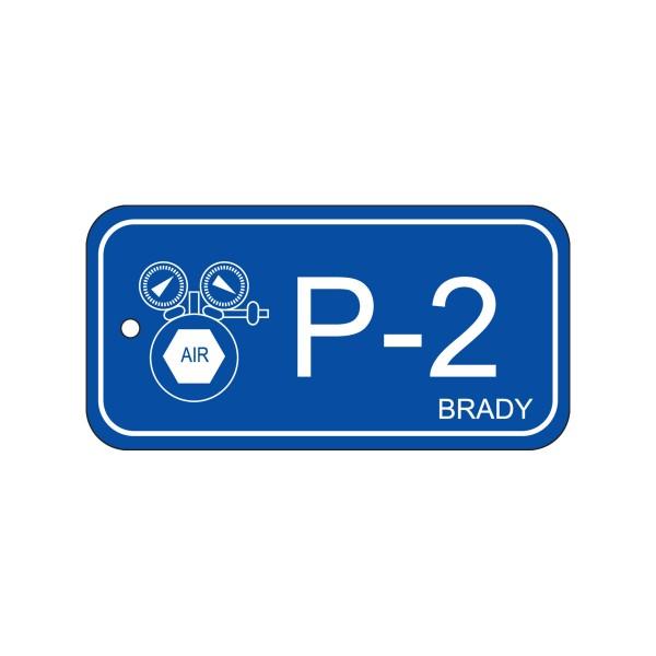 BRADY Anhänger für Energiequellen–Pneumatik ENERGY TAG-P-2-75X38MM-PP/25 138406