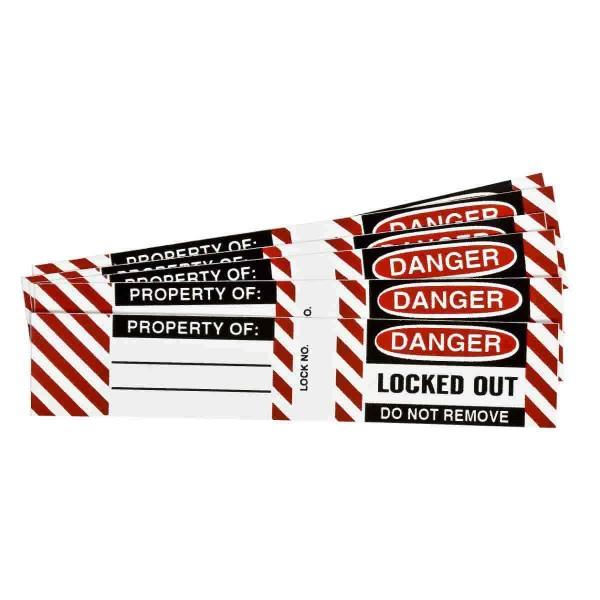 BRADY Etiketten für Stahlvorhängeschlösser B826/B674 LOCKOUT LABELS 6 SETS / PK 50280