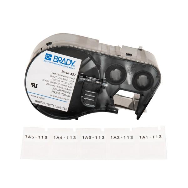 BRADY Etiketten für BMP41/BMP51/BMP53 Etikettendrucker M-48-427 131584