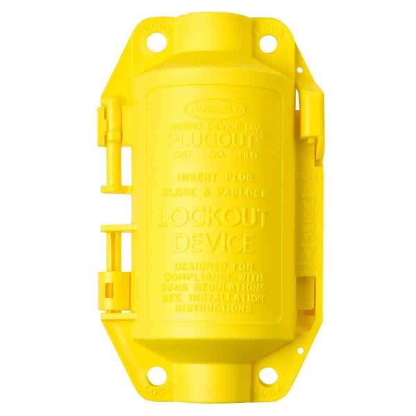 BRADY Hubbell Absperrungen von industriellen Steckerverbindungen, klein SMALL HUBBELL PLUGOUT 65695