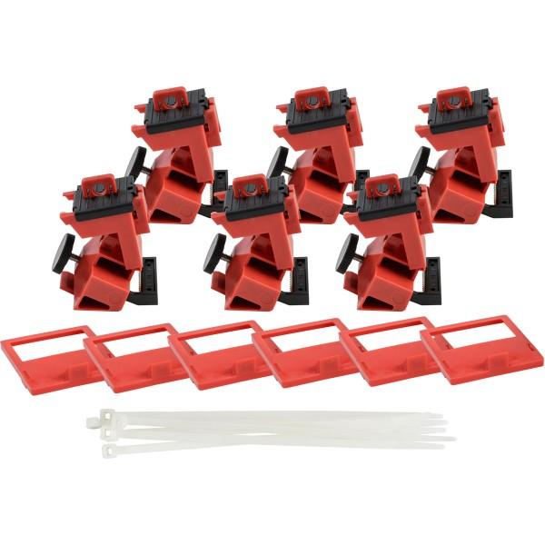 BRADY TagLock Schutzschalter-Verriegelung: 480/600V Klemmverriegelung–6/Pa TAGLOCK 480/600V CLAMP-