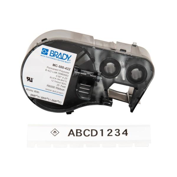 BRADY Etiketten für BMP41/BMP51/BMP53 Etikettendrucker MC-500-422 143242