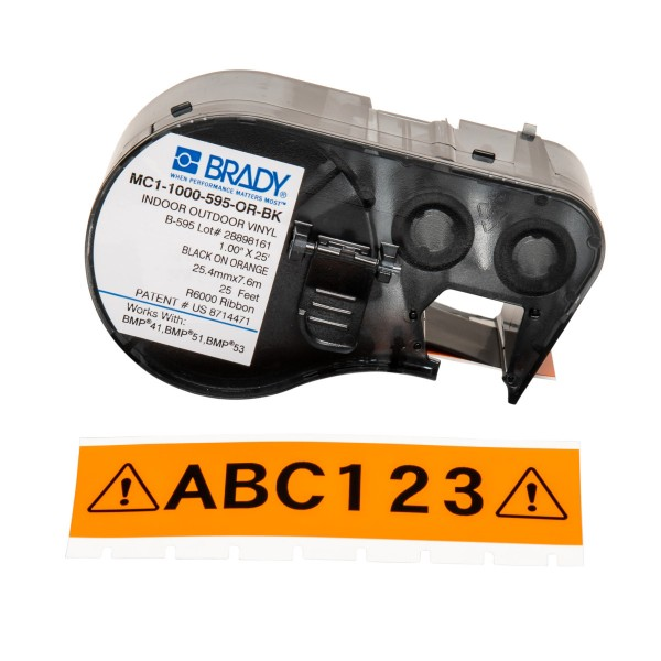 BRADY Band für BMP41/BMP51/BMP53 Etikettendrucker MC1-1000-595-OR-BK 131593