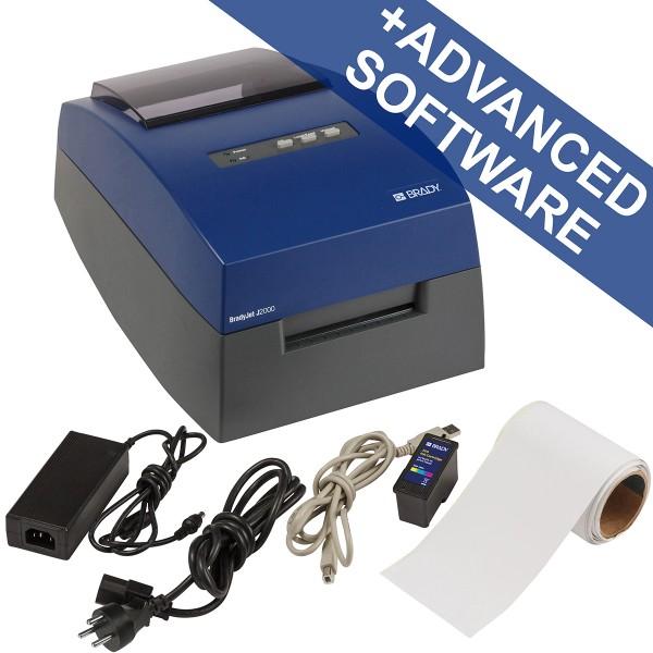 BRADY BradyJetJ2000Farbetikettendrucker–EU, mit BradyWorkstation-Suite J2000-EU-SFIDS 199968