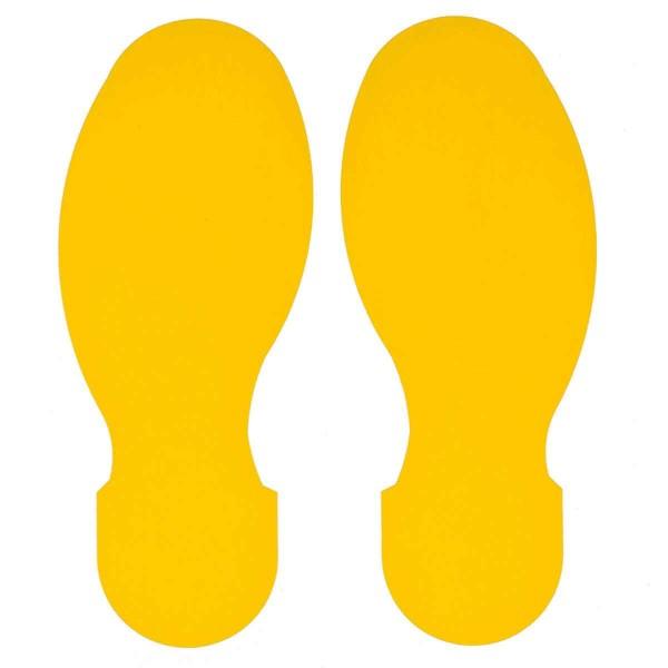 BRADY Fussabdrucke - Gelbe Toughstripe Polyester TOPAS YEL 104409