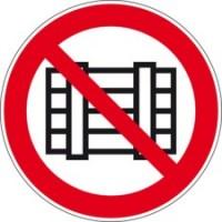 BRADY Verbotsschilder - Nichts abstellen oder lagern PIC 208-DIA 315-B7527 252020