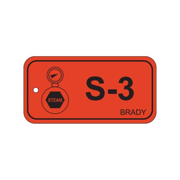 BRADY Anhänger für Energiequellen–Dampf ENERGY TAG-S-3-75X38MM-PP/25 138425