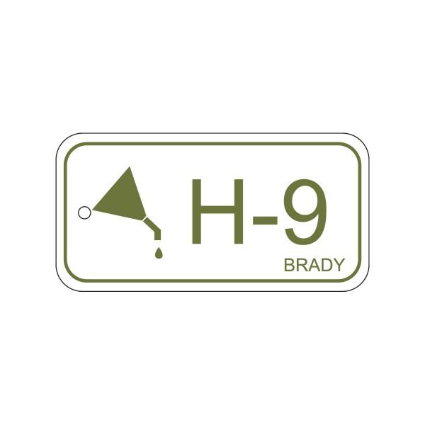 BRADY Anhänger für Energiequellen–Hydraulik ENERGY TAG-H-9-75X38MM-PP/25 138749