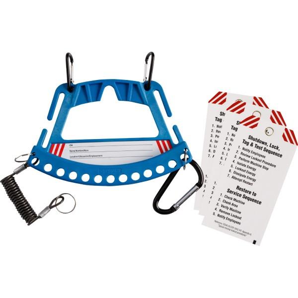BRADY Träger für Sicherheitsschlösser und Anhänger–Blau SAFETY LOCK & TAG CARRIER - BLUE 148862