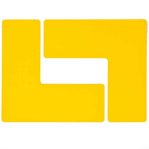 BRADY Eckemarkierung - Ls - 76,2mm x 203,2mm Gelbe Toughstripe Floor Marking TOUL2 YEL 104445
