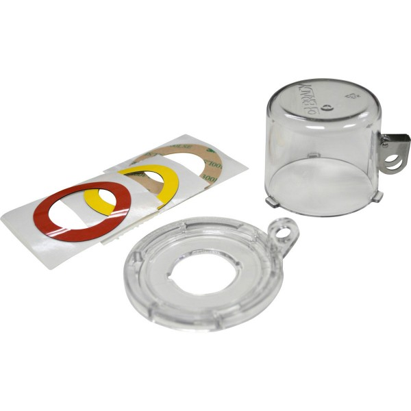 BRADY Lockout-Vorrichtung für Drucktasten (30 mm), Transparent, mit Standard 30MM CLEAR PUSH BUTTON