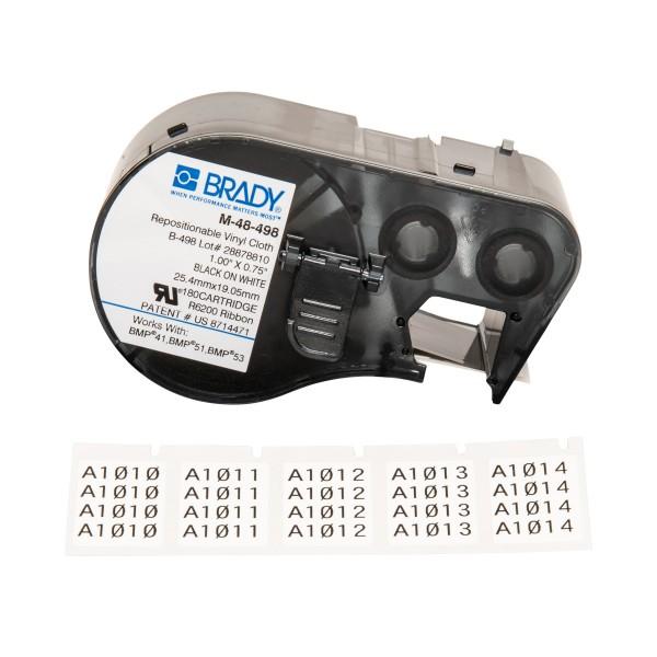 BRADY Etiketten für BMP41/BMP51/BMP53 Etikettendrucker M-48-498 131586