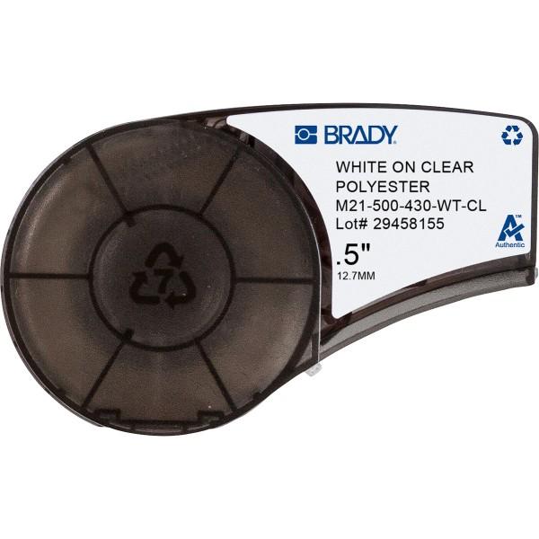 BRADY Polyester-Band für BMP21-PLUS, BMP21-LAB, BMP21, IDPAL, LABPAL M21-500-430-WT-CL 139747