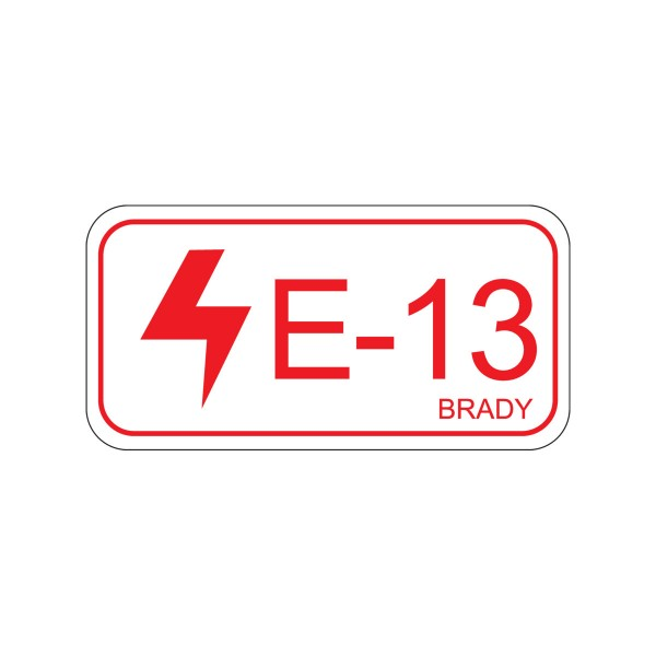 BRADY Etikett für Energiequellen–Elektrik ENERGY TAG-E-13-75X38MM-SA/5 138821