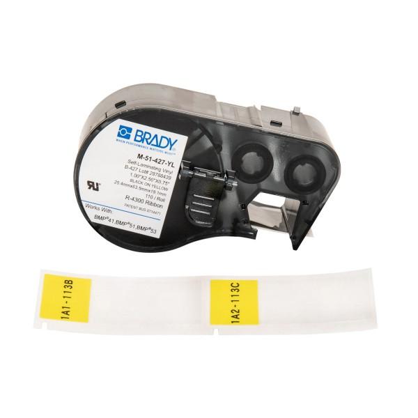BRADY Etiketten für BMP41/BMP51/BMP53 Etikettendrucker M-51-427-YL 131585