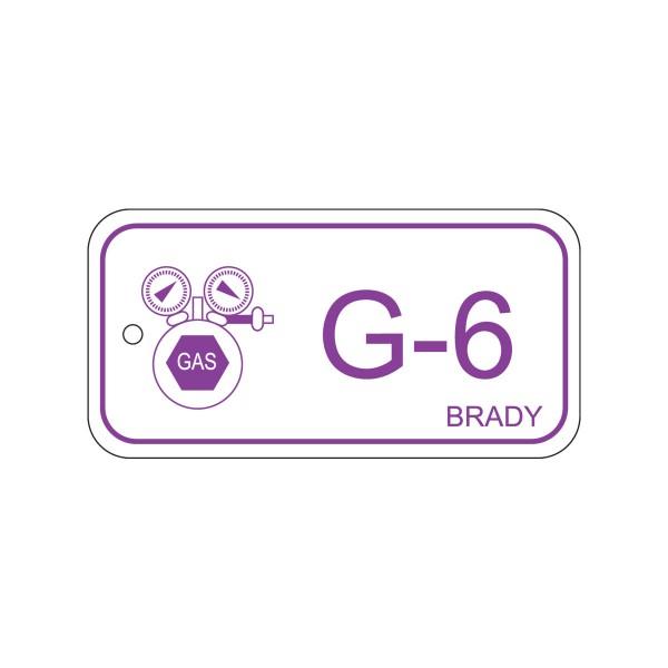 BRADY Anhänger für Energiequellen–Gas ENERGY TAG-G-6-75X38MM-PP/25 138756