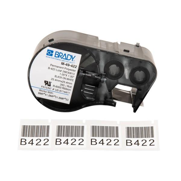 BRADY Etiketten für BMP41/BMP51/BMP53 Etikettendrucker M-49-422 131608