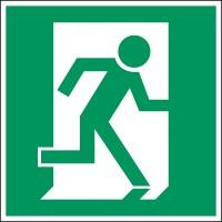 BRADY Fluchtwegkennzeichnung - Rettungsweg PIC 383-200X200-B7527 222557