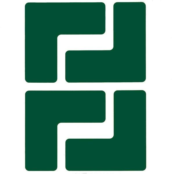BRADY Eckemarkierung - Ls - 50,8mm x 127mm Grüne Toughstripe Floor Marking GREEN B-514 FLOOR LS 50,8