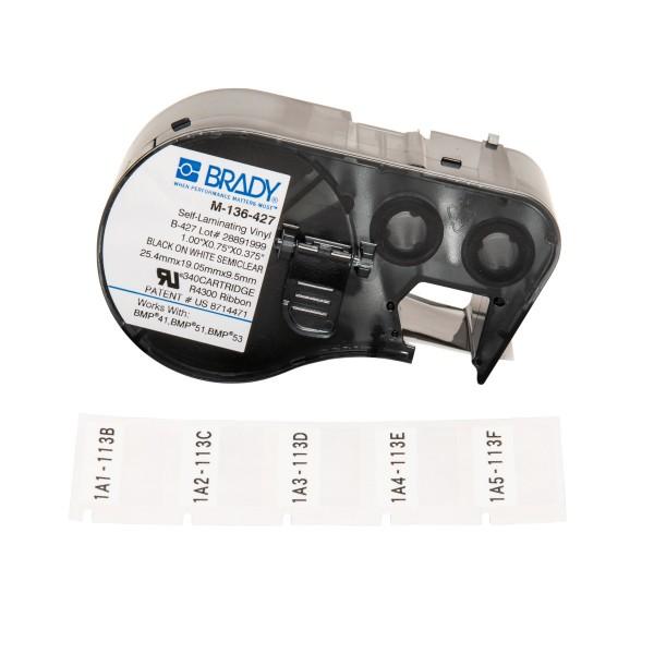 BRADY Etiketten für BMP41/BMP51/BMP53 Etikettendrucker M-136-427 131581