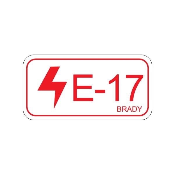 BRADY Etikett für Energiequellen–Elektrik ENERGY TAG-E-17-75X38MM-SA/5 138825