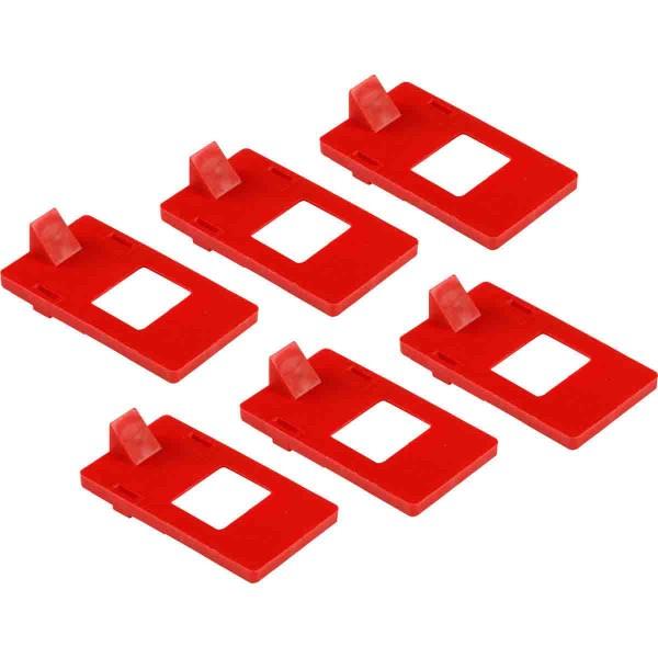 BRADY Zusätzliche Isolierschellen für 120/277V-Absperrung LOCKOUT CLEAT 277 VOLT GENERAL USE PK 6 6