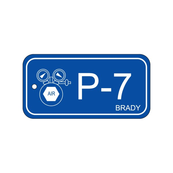 BRADY Anhänger für Energiequellen–Pneumatik ENERGY TAG-P-7-75X38MM-PP/25 138740