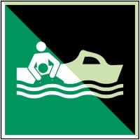 BRADY Bereitschaftsboot–ISO 7010 E/E037/NT-PP-PHOLUMC-200X200/1-B 135006