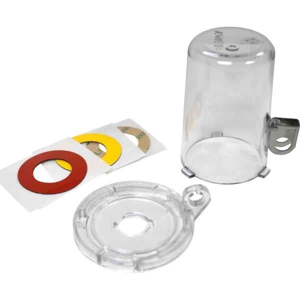 BRADY Lockout-Vorrichtung für Drucktasten (16 mm), Transparent, mit langer A 16MM CLEAR PUSH BUTTON