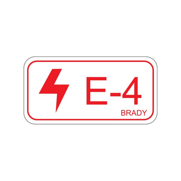 BRADY Etikett für Energiequellen–Elektrik ENERGY TAG-E-4-75X38MM-SA/5 138465