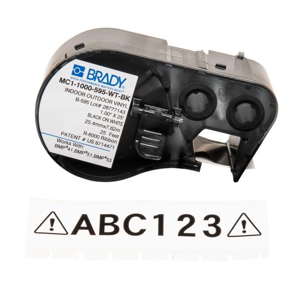 BRADY Band für BMP41/BMP51/BMP53 Etikettendrucker MC1-1000-595-WT-BK 131582