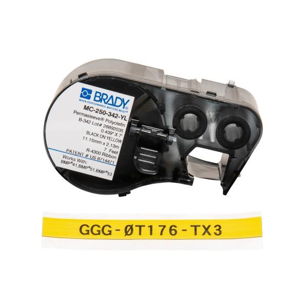 BRADY PermaSleeve Schrumpfschläuche zur Kabelkennzeichnung für BMP41/BMP51/B MC-250-342-YL 143232
