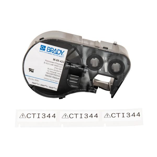 BRADY Etiketten für BMP41/BMP51/BMP53 Etikettendrucker M-89-422 131577