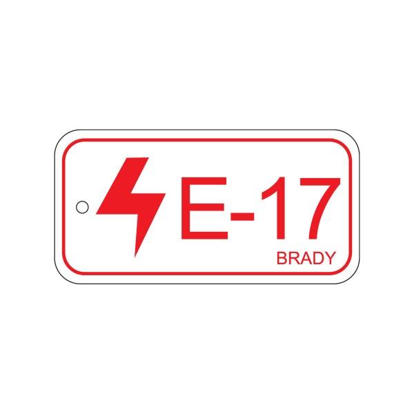 BRADY Anhänger für Energiequellen–Bedienfeld ENERGY TAG-E-17-75X38MM-PP/25 138835