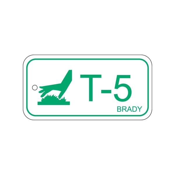 BRADY Anhänger für Energiequellen–Hohe Temperaturen ENERGY TAG-T-5-75X38MM-PP/25 138781