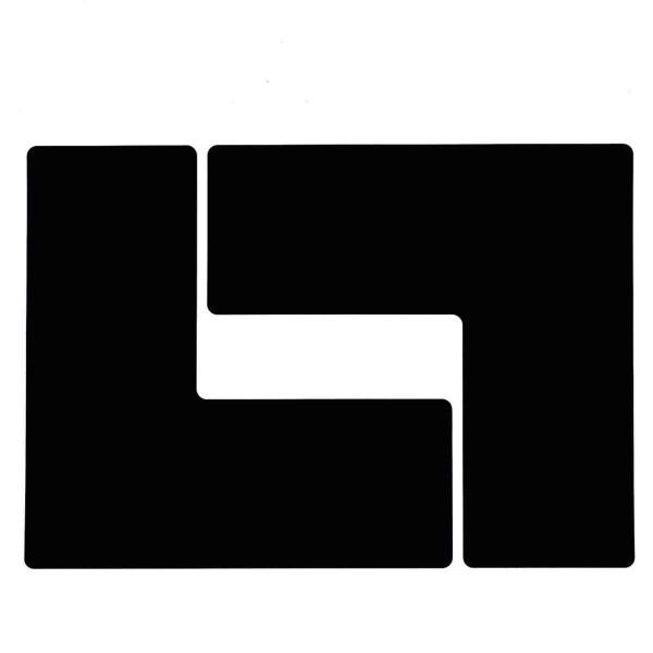BRADY Eckemarkierung - Ls - 101,6mm x 254mm Schwarze Toughstripe Floor Marki TOUL3 BLK 104458