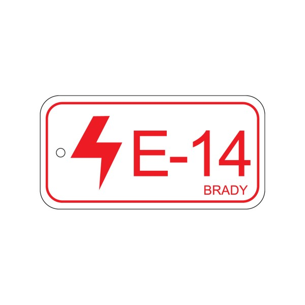 BRADY Anhänger für Energiequellen–Bedienfeld ENERGY TAG-E-14-75X38MM-PP/25 138832