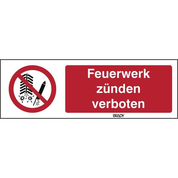 BRADY ISO-Sicherheitsschild–Feuerwerk verboten P/P040/DE101/PE-450X150-1 196843