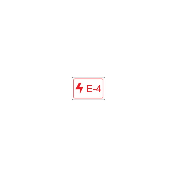 BRADY Etikett für Energiequellen–Elektrik ENERGY TAG-E-4-19X13MM-SA/100 138455
