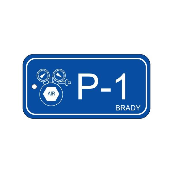 BRADY Anhänger für Energiequellen–Pneumatik ENERGY TAG-P-1-75X38MM-PP/25 138405