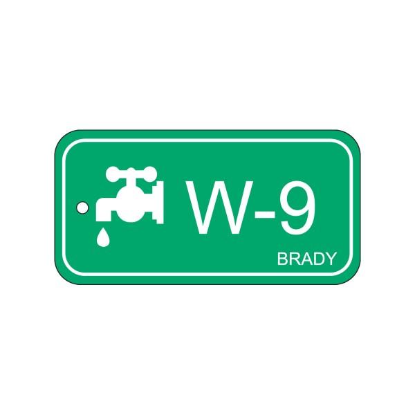 BRADY Anhänger für Energiequellen–Wasser ENERGY TAG-W-9-75X38MM-PP/25 138754