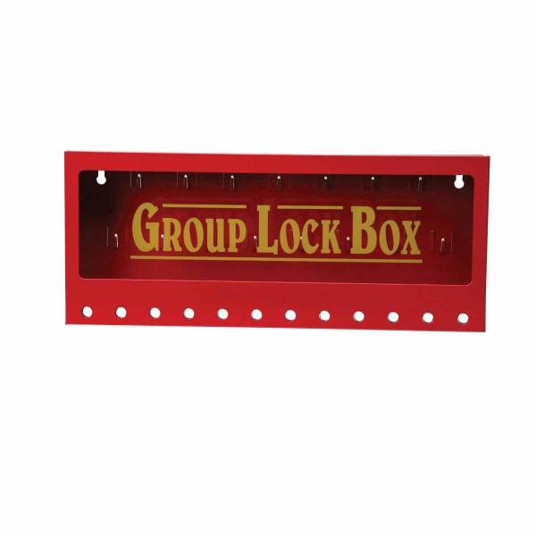 BRADY Metall-Gruppenverschlusskasten zur Wandmontage METAL WALL GROUP LOCK BOX, RED, LARGE 105715