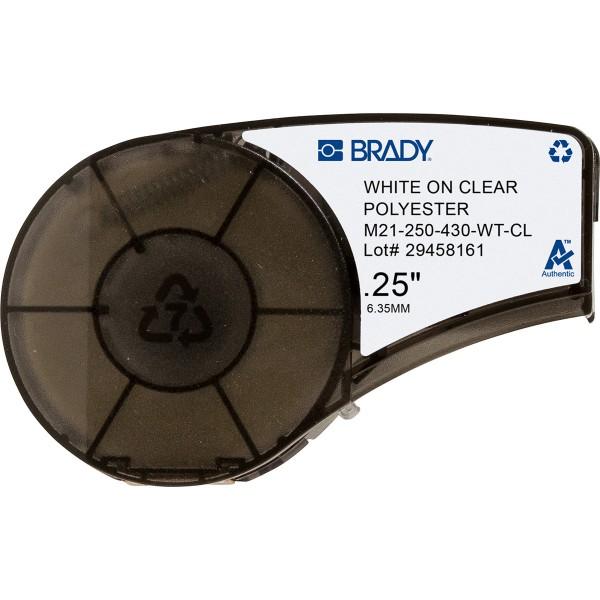 BRADY Bänder für den tragbaren Drucker BMP21-PLUS und BMP21-LAB M21-250-430-WT-CL 139746