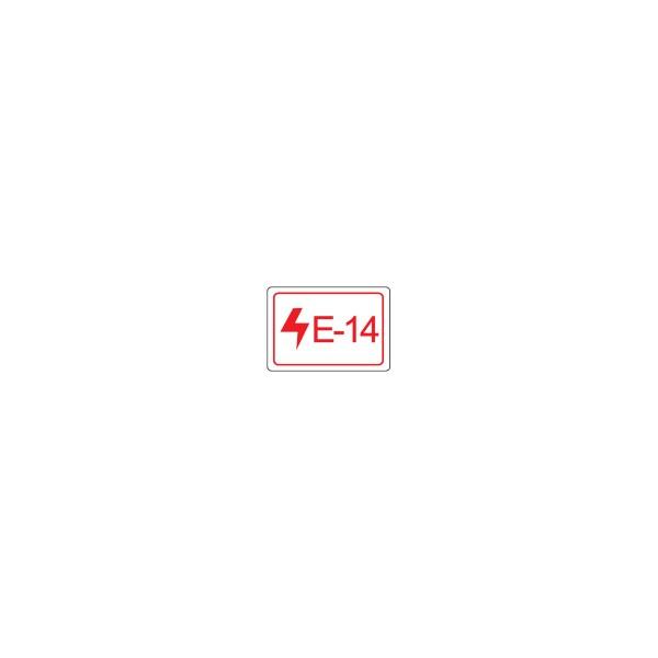BRADY Etikett für Energiequellen–Elektrik ENERGY TAG-E-14-19X13MM-SA/100 138812